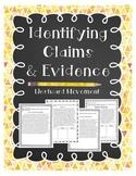Identifying Claims& Evidence: Short Passages Westward Movement