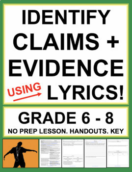 Identifying Claims & Relevant Evidence - using Song Lyrics (Music as Poetry)
