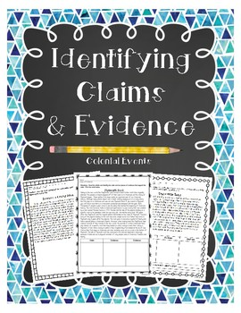 Identifying Claims and Evidence: Colonial America Edition