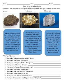 Identifying & Classification of Rocks