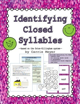 Identifying Closed Syllables