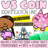 Identifying Coins Activities, Worksheets and Google Slides (Coin Identification)