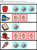 Identifying Coins & Bills for Early Learners (Multiple Levels)