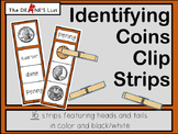 Identifying Coins Clip Strips