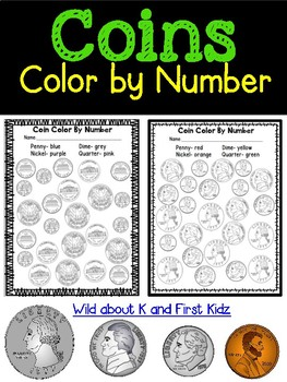 Identifying Coins Color By Number