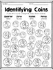 Identifying Coins Coloring Sheet