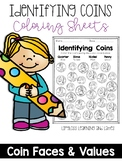 Identifying Coins Coloring Sheets