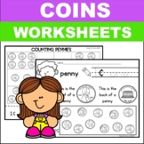 Identifying Coins Counting Coins Worksheets