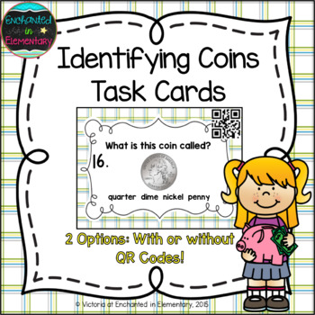 Identifying Coins Task Cards