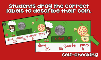 Identifying Coins & Their Values - Digital Resource K-1st grade