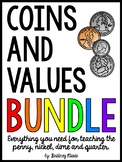 Identifying Coins and Values BUNDLE