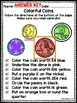 Identifying Coins and Values Coloring Activity