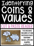 Identifying Coins and Values Cut and Paste Emergent Reader
