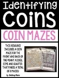 Identifying Coins Money Mazes