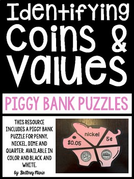 Identifying Coins and Values Puzzles
