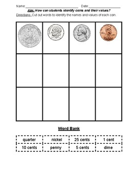 Identifying Coins and their Values