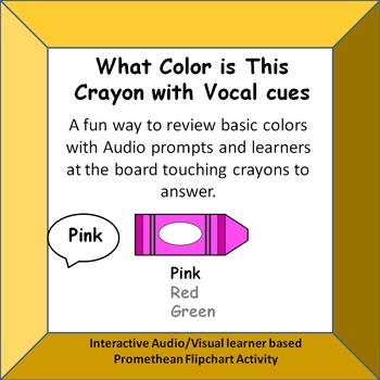 Identifying Color Names based on Audio cues  Promethean Activity