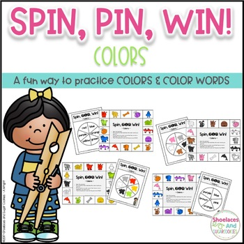 Identifying Colors Game ~ Spin, Pin, Win!
