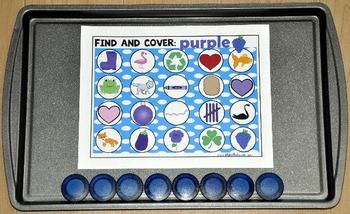 """Identifying Colors:  Identifying Colors """"Find and Cover"""" Activities"""