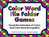 Reading Color Words / Visual Discrimination of Colors • File Folder Game Bundle