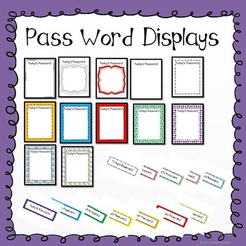 Identifying Colors, Shapes, and Letters- Passwords