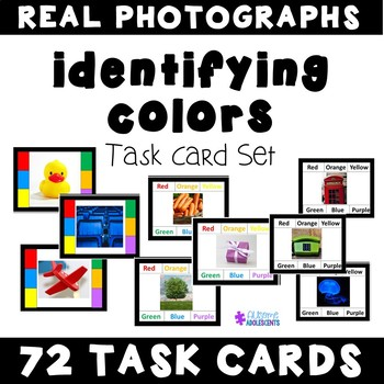 Identifying Colors Task Cards