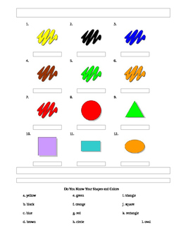 Identifying Colors and Shapes