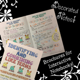Identifying & Combining Like Terms - Decorated Notes Brochure for INBs