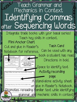 Identifying Commas after Sequencing Words