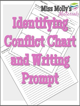 Identifying Conflict Graphic Organizer with Writing Prompt