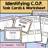 Identifying Constant of Proportionality Task Card and Worksheet (32Q)