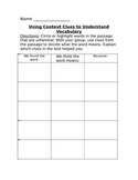 Identifying Context Clues Group Activity