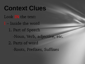 Identifying Context Clues Powerpoint