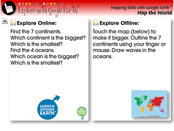 Identifying Continents and Oceans - Explore - NOTEBOOK Gr. PK-2