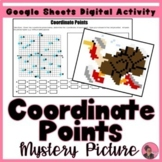 Identifying Coordinate Points Digital Pixel Art Activity