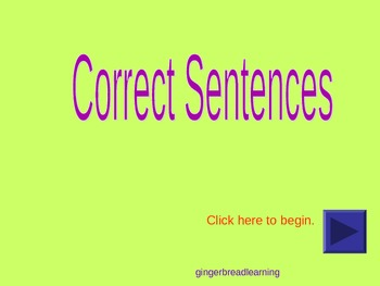Identifying Correct Sentences