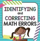 Math Errors: Identifying and Correcting