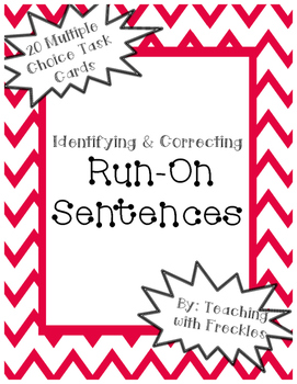 Identifying & Correcting Run-On Sentences: Combining Sentences Practice