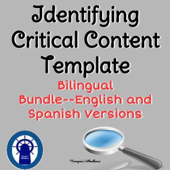 Identifying Critical Content for All Lessons Bilingual Bundle