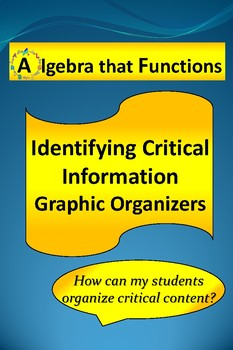 Identifying Critical Information Graphic Organizers
