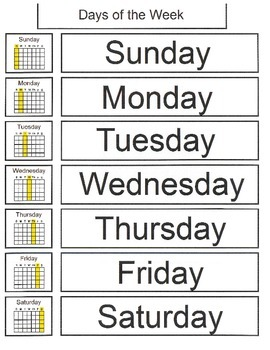 Identifying Days of the Week