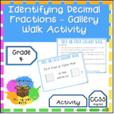 Identifying Decimal Fractions Gallery Walk - 4th Grade Fractions (4.NF.5)