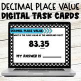 Identifying Decimal Place Value Digital Task Cards Google Slides