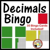 Decimals Bingo - Identifying Models Classroom Game w/ 35 Bingo Cards!