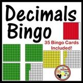Decimals Bingo Identifying Models Classroom Game w/ 35 Bingo Cards!