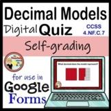 Identifying Decimals Google Forms Quiz