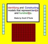 Identifying Decimals Tenths-Hundredths column Smartboard Lesson