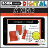 Identifying Decimals Games in Spanish | Digital Boom Cards for Distance Learning