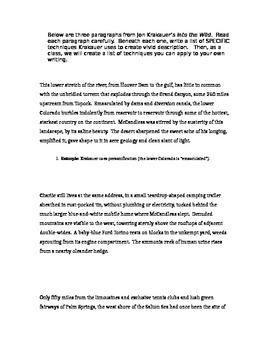 Identifying Descriptive Writing Techniques