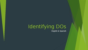 Identifying Direct Objects Eng & Spn